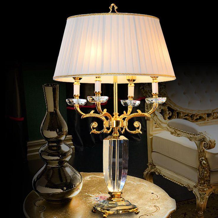 Lámparas de mesa de cristal para la sala de estar led luces de mesa de cristal para sala de lectura de Cabecera foyer de iluminación lámparas Decoraciones Caseras Creativas en Lámparas de mesa de Luces e Iluminación en AliExpress.com | Alibaba Group