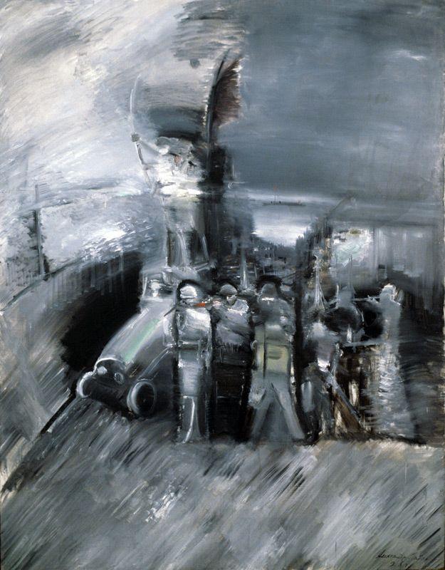 Александр Лабас. Вечером на пути к аэродрому.1928