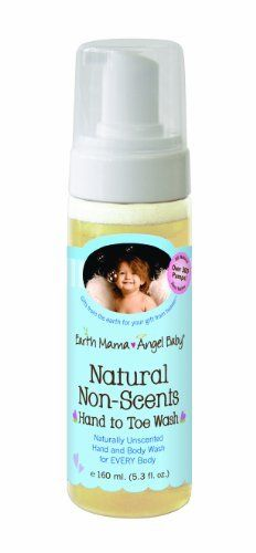 Earth Mama Angel Baby Hand to Toe Wash, Natural Non-Scents, 5.3 Fluid Ounce by Earth Mama Angel Baby. Save 38 Off!. $6.81. Thick foaming formula stays where you need it. Pure castile soap is safe for the whole family. NSF certified, contains organic oils and calendula. Rated zero for toxicity on skin deep database. Amazon.com                Earth Mama's Natural Non-Scents Hand to Toe Wash provides an alternative to harsh detergents, or soaps with artificial fragrance, which can leave...