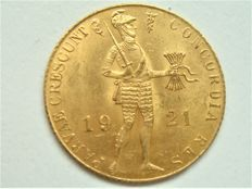 Nederland - Dukaat 1921 Wilhelmina - goud