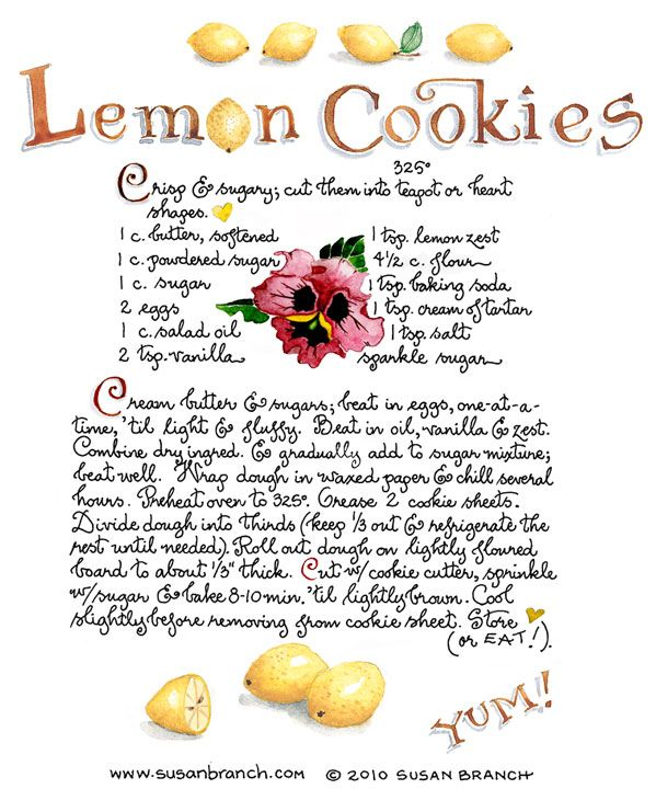 I must make these sometime. I love lemon!