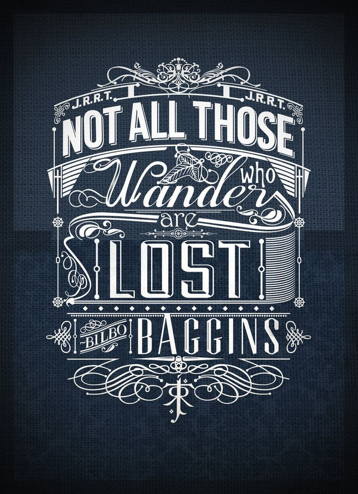 Tolkien Typography by ~jss743 on deviantART