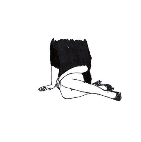 dibujo mujer sin cabeza no identidad