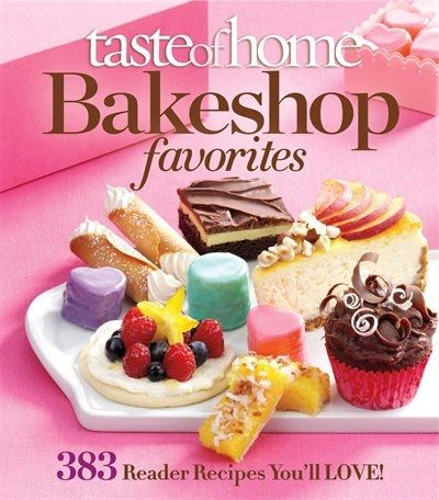 Taste of Home presents a delicious blend of traditional baking recipes and contemporary classics, in this new book, Taste of Home Bakeshop Favorites . There are 383 delicious fool- proof recipes for pastries, coffee cakes, breads, show-stopping desserts and all the delectable goodies you would find in a bakery. Two chapters unique to this book are Celebrate the Seasons and Cafe Beverages . Celebrate the Seasons highlights the best of each season. Spring includes recipes for Lemon Meringue…