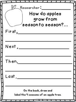 """IT's APPLE and JOHHNY APPLESEED TIME!!!  Apples & Johnny Appleseed Writing """"Research"""" w/ Literacy and math activities. 80 pages!!!! Lots of leveled work for different leveled learners. :o)"""