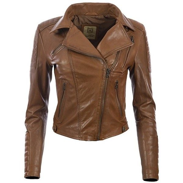 MDK Womens Super Soft Ladies Real Leather Stylish Fitted Biker Jacket