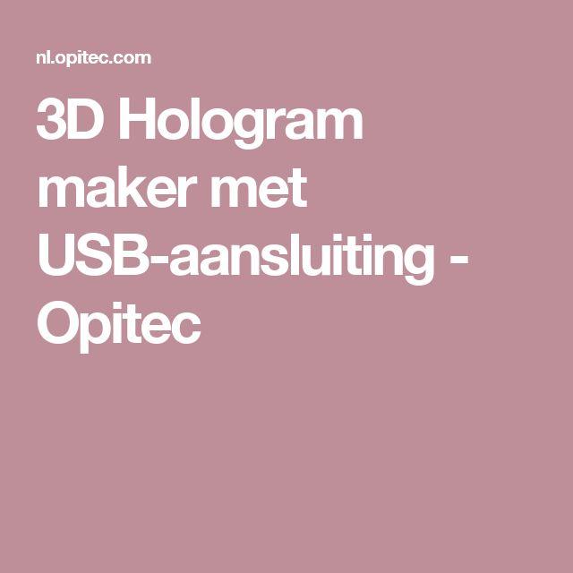 3D Hologram maker met USB-aansluiting - Opitec