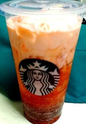 Starbucks Italian Soda! Purchase a Perrier carbonated water, Add 3-4 shots of your choice of syrup to a grande cup over ice, Have the barista pour in the Perrier, Top with whipped cream if desired.