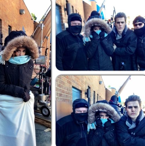 nina dobrev and paul wesley on set  | Screen Shot 2013-01-23 at 10.24.18 AM – Gallery Photo 1 | Celebrity ...