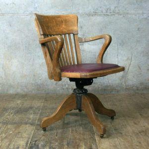 Charmant Mission Solid Oak Swivel Desk Chair