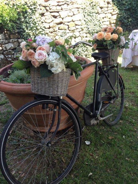 Bike With Flower Baskets