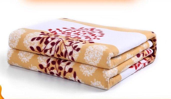 Security Single Bed Plush Electric Heated Blanket Electric Heating Blanket Bed Body Warmer Carpets Heated Carpet 150*70 CM