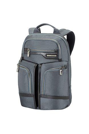 Gt Supreme Business Laptop Backpack 35.8cm Samsonite tietokonereppu  Vahva nailonrakenne, tyylikkäät ja pehmeät naudannahkaiset yksityiskohdat ja ensiluokkaiset asemetalliosat