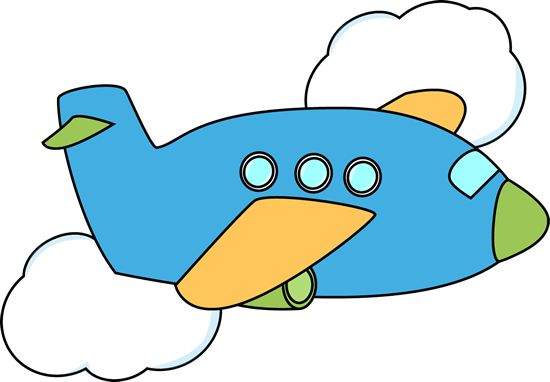 Airplane Flying Through Clouds Clip Art
