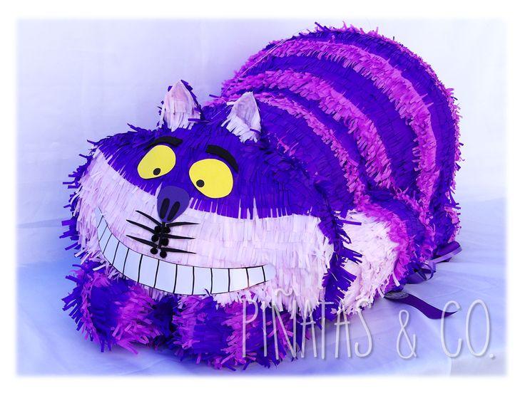 Piñata del Gato de Cheshire (Gato Risón o Gato Sonriente) de Alicia en el País de las Maravillas // Cheshire Cat, Alice in Wonderland Pinata.
