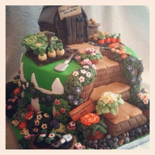 Garden Design Birthday Cake 35 best shed cakes images on pinterest | garden cakes, allotment