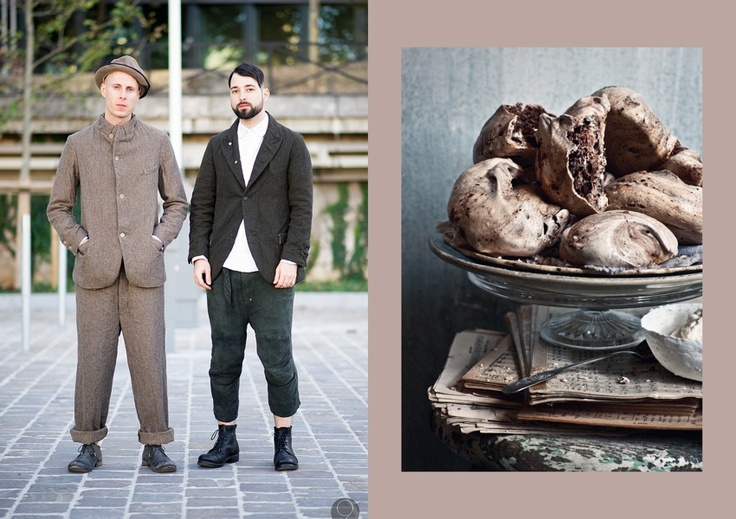 Vassili Di Napoli and Mike Nouveau Street Style shot by I'M KOO // Chocolate Meringues at What Katie Ate