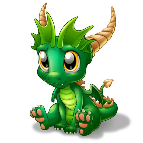 Bébé Dragon - Émeraude - Body Bébé manches courtes - Coton biologique - Blanc