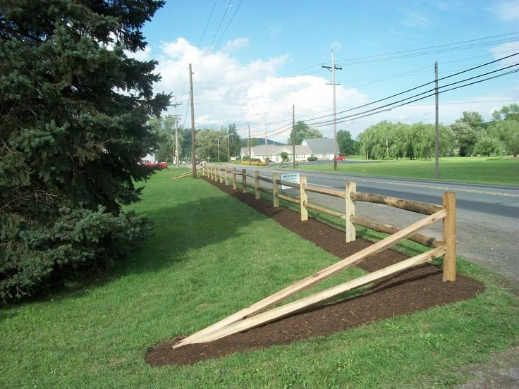 driveway marker rail fence - Google Search
