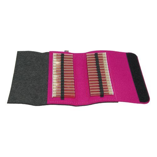 Homöopathische Reiseapotheke grau/pink aus hochwertigem Filz 32 Schlaufen #globuli #reiseapotheke #taschenapotheke #globulitasche #naturheilmittel #homöopathie