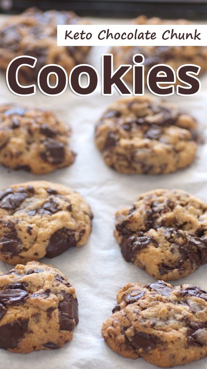 keto chocolate chunk cookies chocolate chunk cookies keto cookies low carb desserts pinterest
