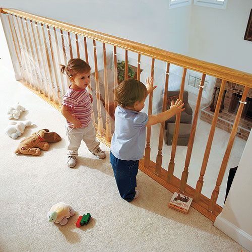 Clear Banister Guard Kit For Kids Safety From One Step Ahead  Idea For  Baby Proofing The Fireplace? Not Sure How To Attach, But Could Be Really  Simple: ...