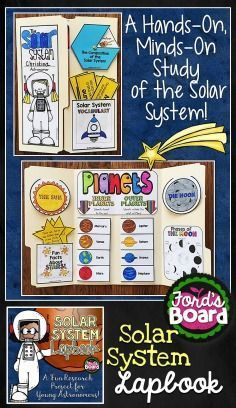 The Solar System Lapbook will make a great interactive learning tool and study guide for your students as they learn about the sun, moon, planets, and more!