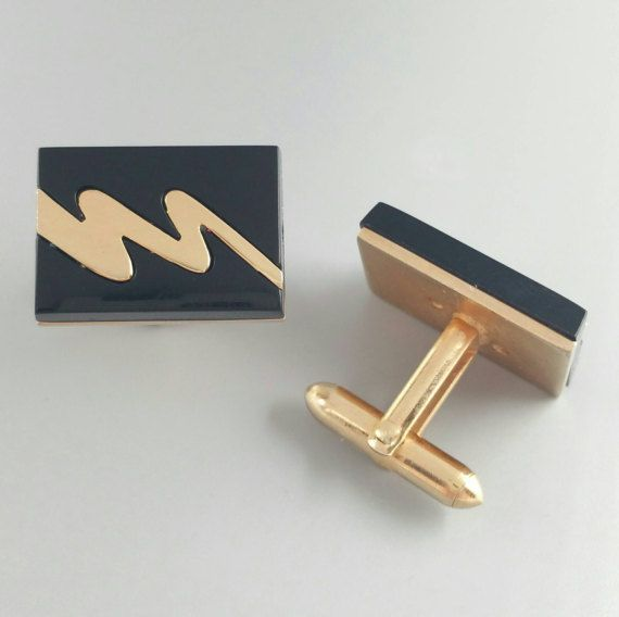 Check out this item in my Etsy shop https://www.etsy.com/listing/510590493/lightning-cufflinks-vintage-cufflinks