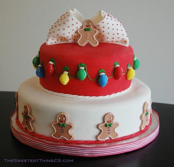 gingy Christmas cake