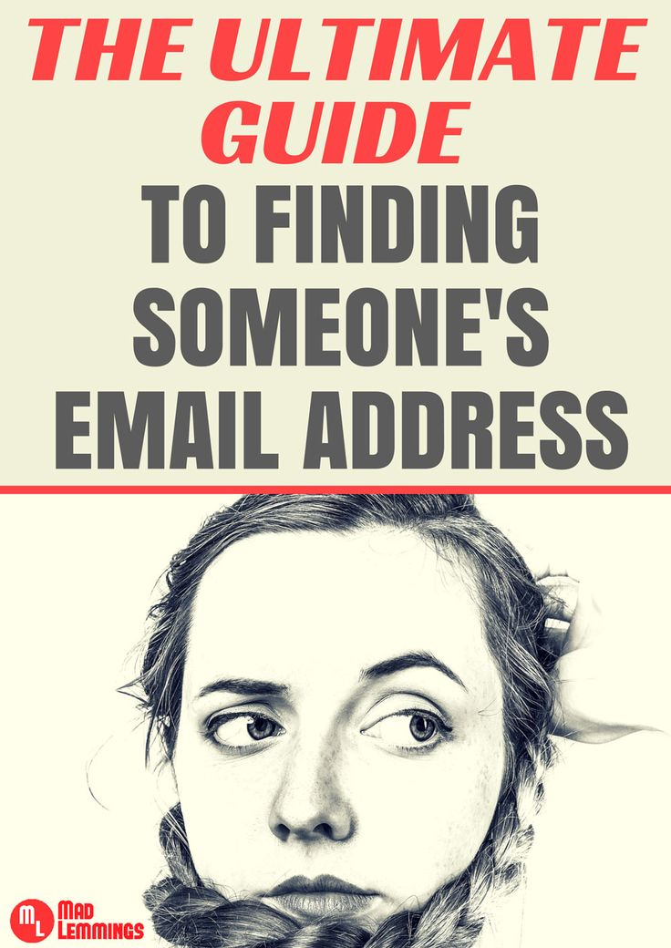 Finding someone's email online is not always as easy as it should be. But with these tips, you will be successful in no time.