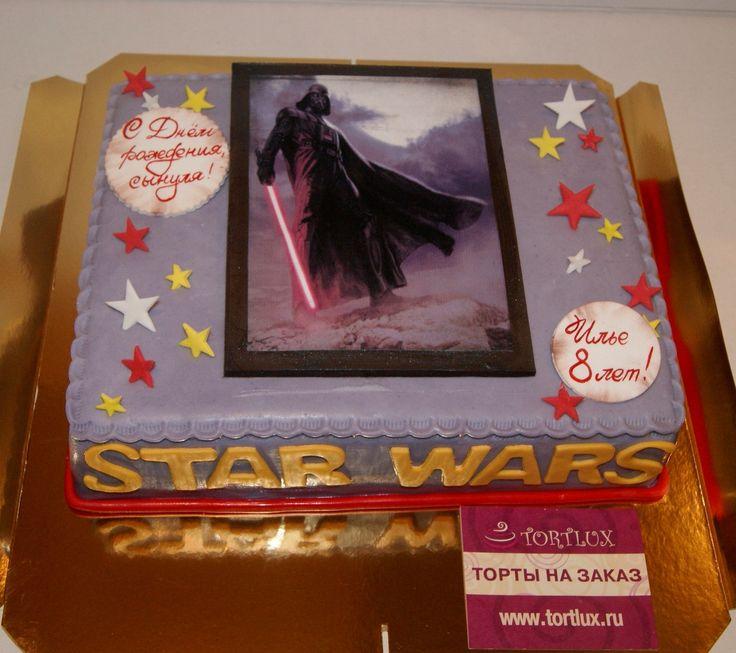 """Фото торт""""Звездные войны"""".Вес 4кг."""
