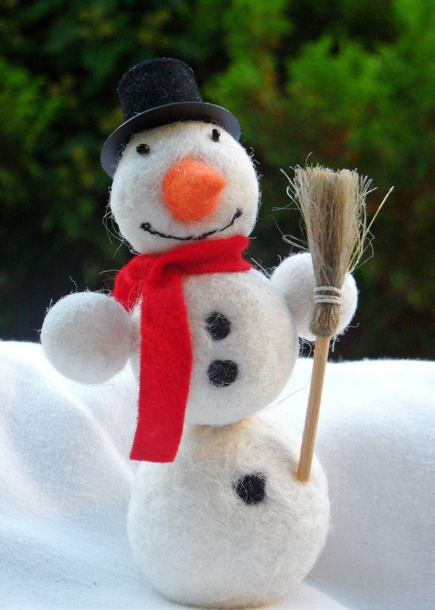 Schneemann für den Jahreszeitentisch