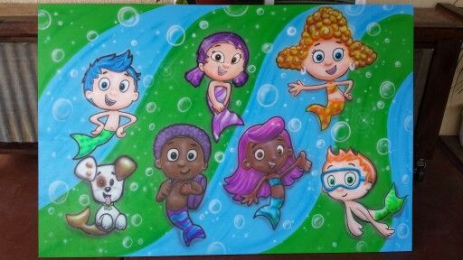 This is made from a sheet of 4x8 plywood 1/8 thick and all the faces flip down and are attached with velcro for kids to put their faces in the holes for pictures. All freehand drawn and airbrushed with #iwata airbrush and #createx paint. 559-824-3548 contact me for any orders, located in Fresno California. airplay@sbcglobal.net  #airplayairbrush #bubbleguppies nickelodeon #art #pictureboard #airbrush #diyproject #upcycled #kidsparty #lovetoairbrush