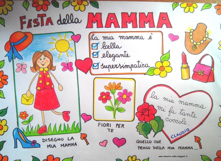 maestra Nella: lavoretti per bambini festa della mamma tovaglietta plastificata