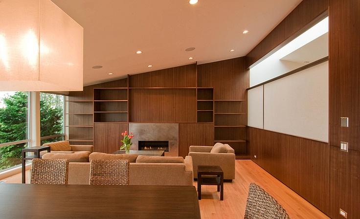 Mid century living room by BUILD LLC