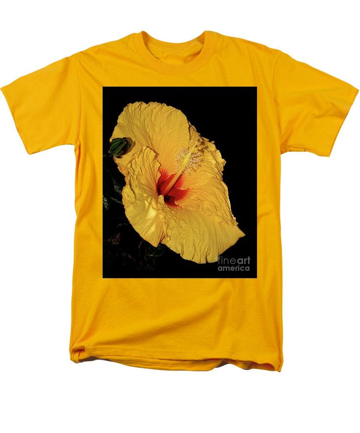 Photography T-Shirt featuring the photograph Vibrant Yellow Hibiscus By Kaye Menner by Kaye Menner