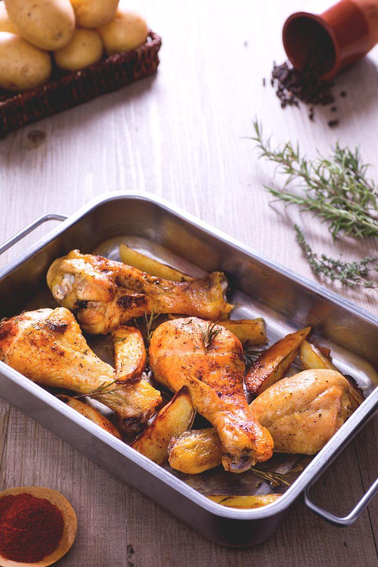 Cosce di pollo al forno Semplici e deliziose. Un secondo piatto che conquisterà tutti!  Baked chicken thighs