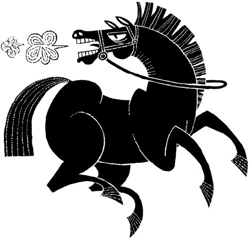 horse  illustration by Esther Aarts