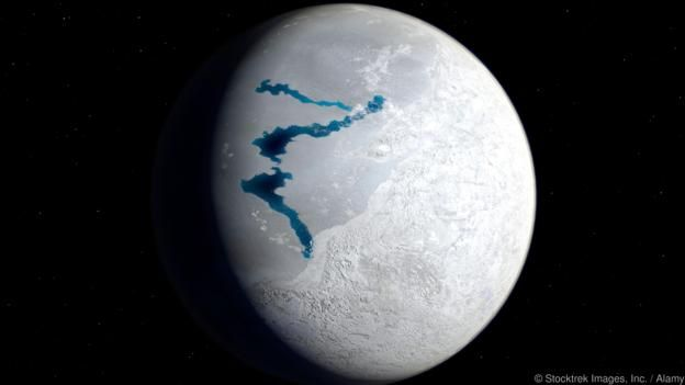 When Earth was a frozen snowball (Credit: Stocktrek Images, Inc. / Alamy). The…