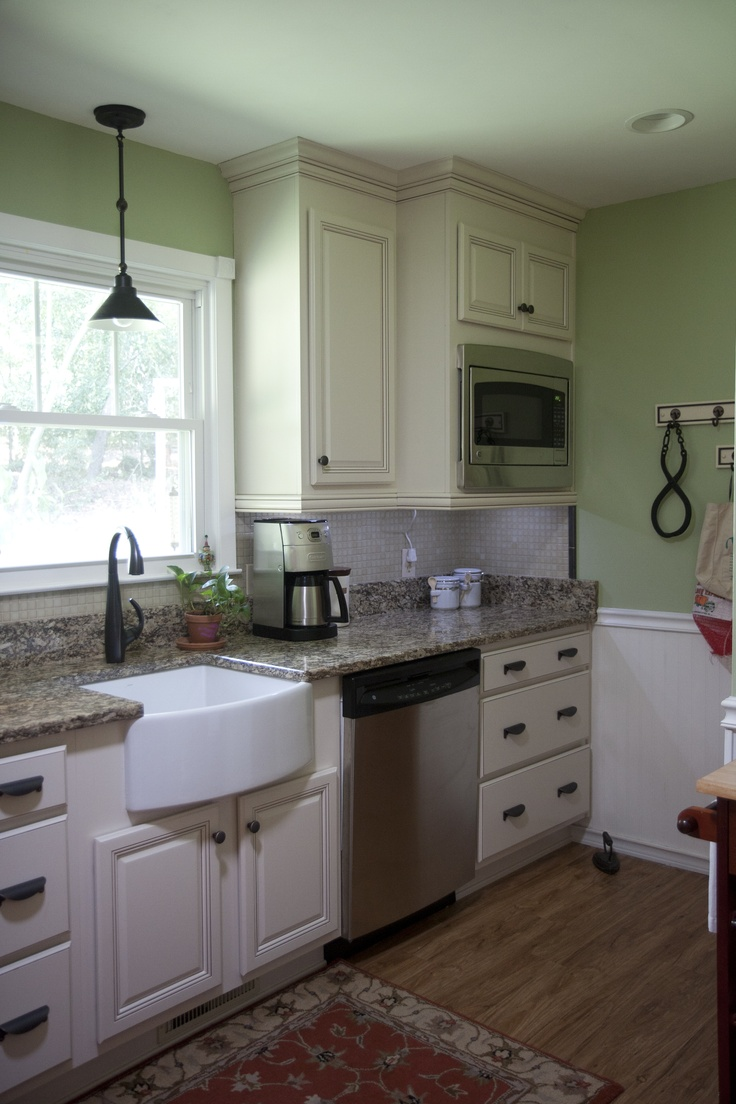 57 best kitchen remodels the kitchen center images on pinterest fireclay farm sink built in microwave large drawers