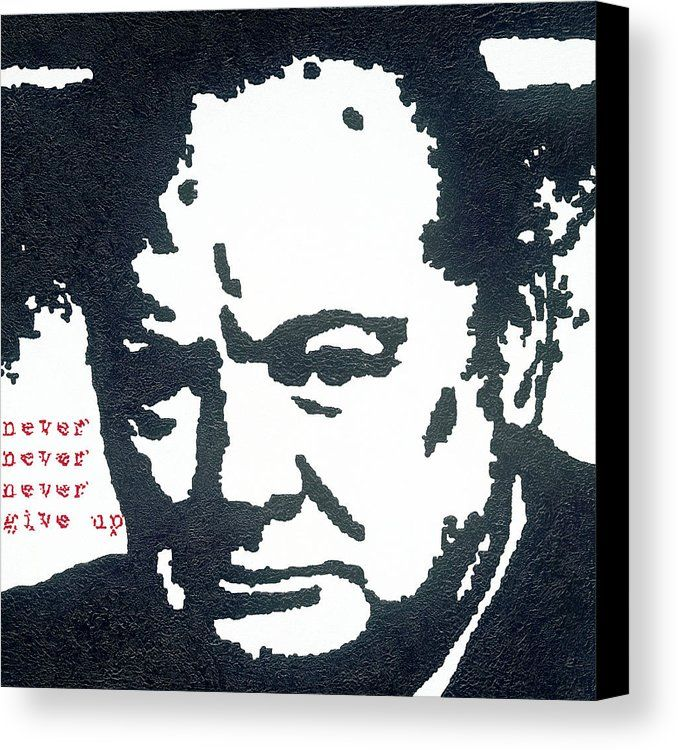Churchill - canvas print of an original painting by Barry Novis, www.barrynovis.com