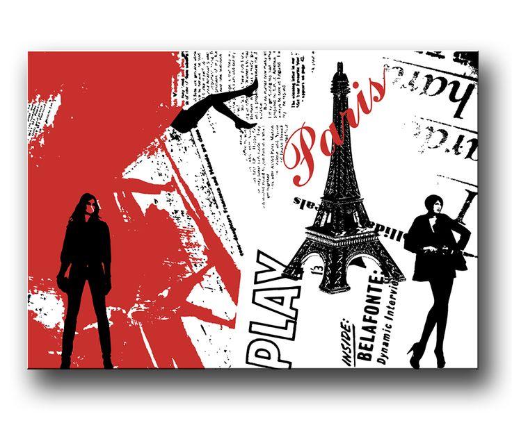 Paris canvastavla / poster / affisch