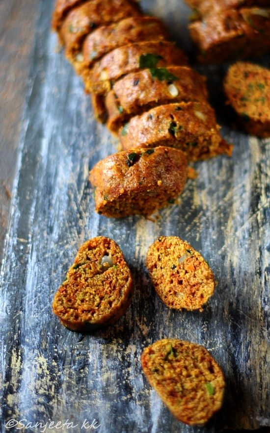 Finger Millet or Ragi Muthiya, a healthy Indian snack recipe.