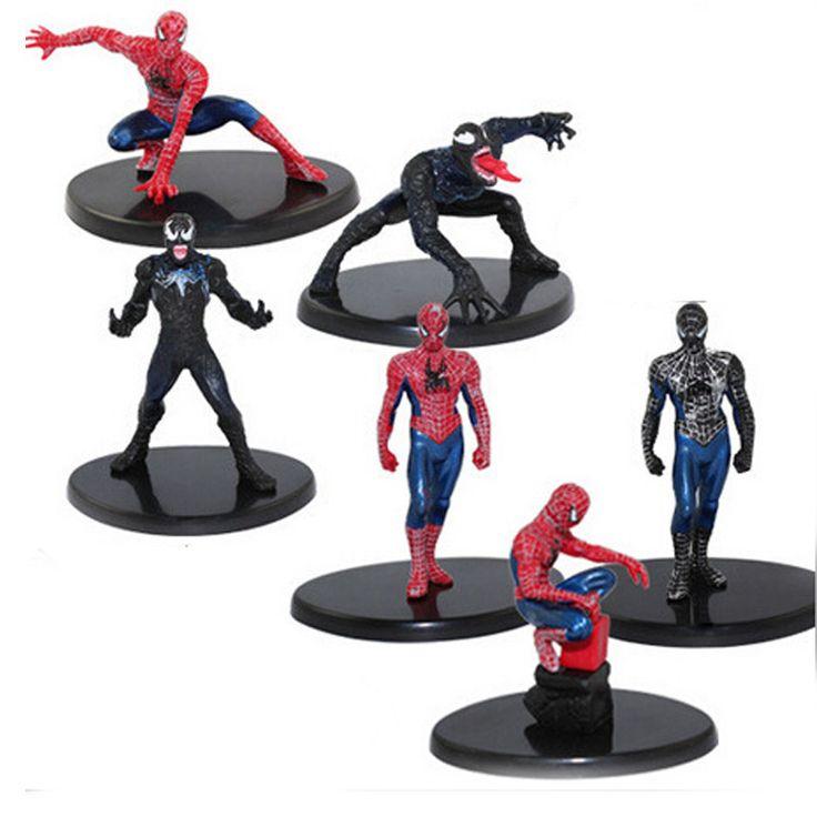 6pcs/set Spider Man Venom Collectibles //Price: $15.00 & FREE Shipping //     #avengers #justiceleague #superman #spiderman