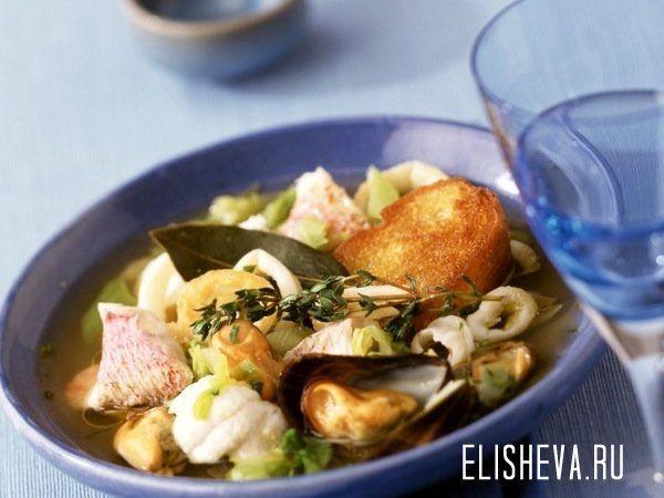 Средиземноморский суп из морепродуктов. Рецепт