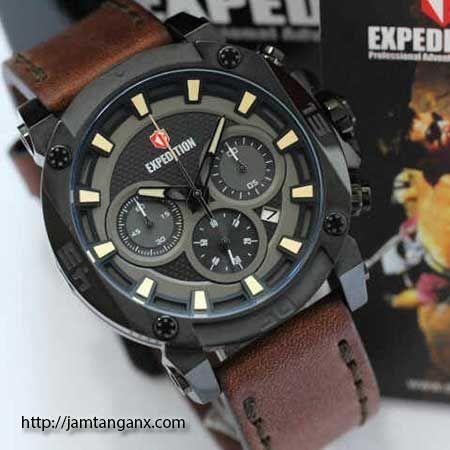 jam tangan expedition E6606 warna hitam coklat
