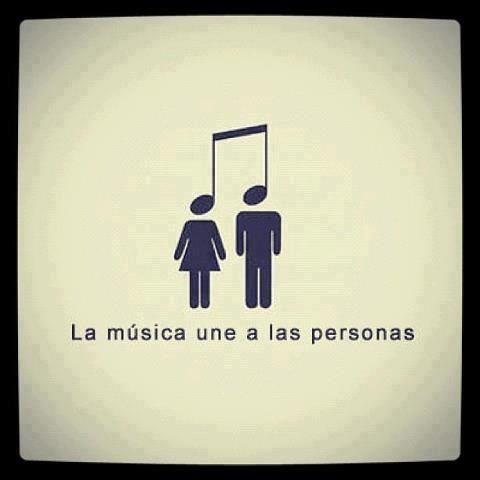 w. LA MUSICA uNE A LAS pERSONAS