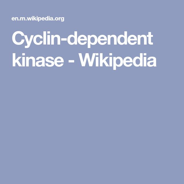 Cyclin-dependent kinase - Wikipedia