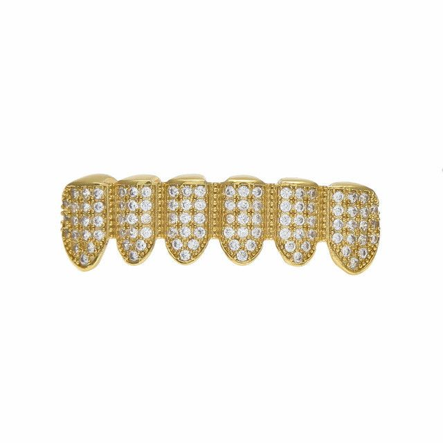 [BOTTOM] LUXURY GOLD ICED OUT DIAMOND GRILLZ
