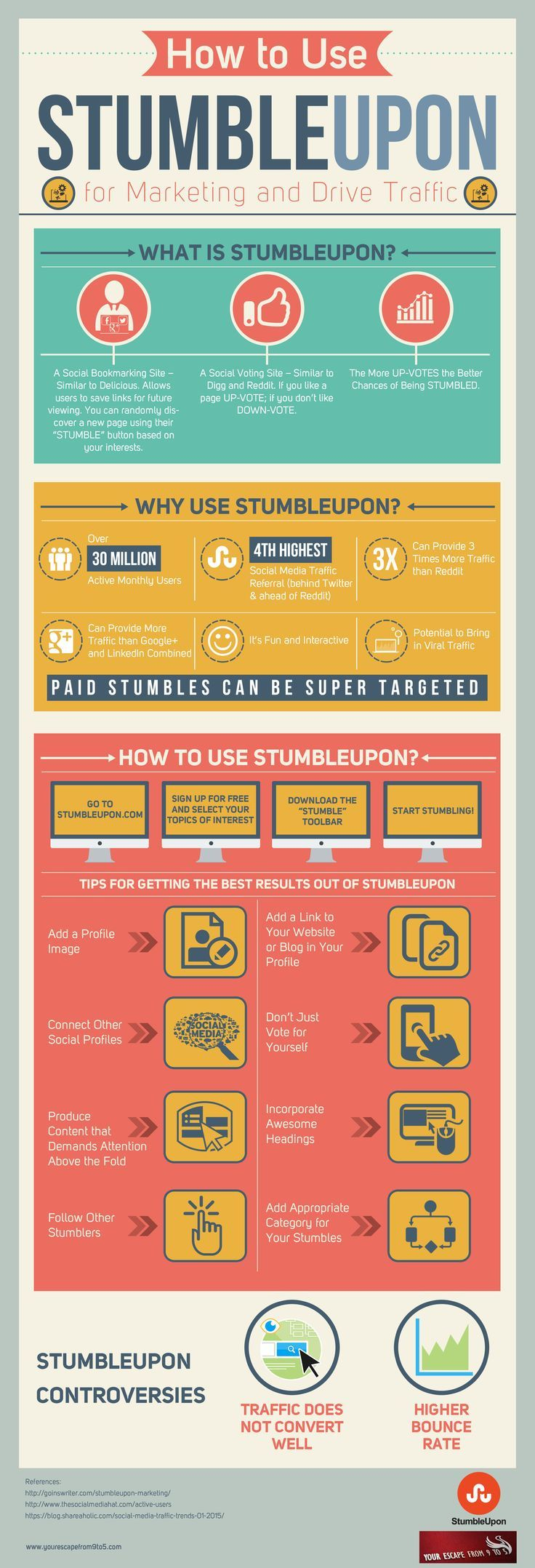 How to Use StumbleUpon to Drive Traffic and Marketing #infographic #Marketing